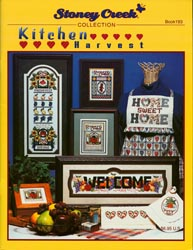 Front cover of Stoney Creek Book 193 Kitchen Harvest with fruit and vegetable cross stitch designs