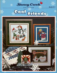 Cover photo of Stoney Creek Book 211 Cool Friends featuring snowmen cross stitch designs MAIN