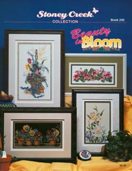 Cover photo of Stoney Creek Book 240 Beauty in Bloom featuring floral cross stitch designs