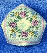 The Sweetheart Tree - Summer Flowers Biscornu Pincushion THUMBNAIL