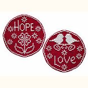 Handblessings - Circle Ornaments - Hope and Love