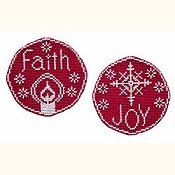 Handblessings - Circle Ornaments - Faith and Joy