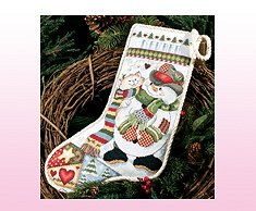 Patches Snowman and Kitten Stocking