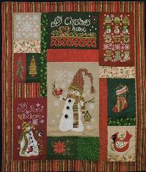 Cozy Christmas Snowman Quilt Chart Pack Only MAIN