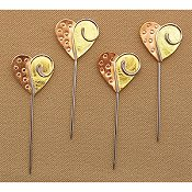 Puffin Counting Pins - Hearts