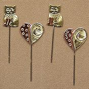 Puffin Counting Pins - Kitty & Heart Collection