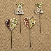 Puffin Counting Pins - Puppy & Heart Collection