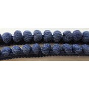 Dames of the Needle - Large Pom Pom - Miguel's Navy THUMBNAIL