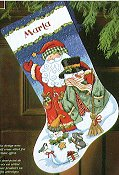 Dimensions Stocking Kit - Santa & Snowman