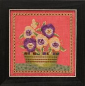 Debbie Mumm Blooms and Blossoms Kit by Mill Hill - Pansies