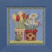 Debbie Mumm Blooms and Blossoms Kit by Mill Hill - Tulips and Daisies