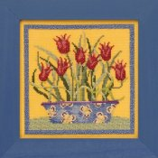 Debbie Mumm Blooms and Blossoms Kit by Mill Hill - Tulips