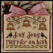 Little House Needleworks - 2012 Ornament #5 - Ding Dong Merrily on High