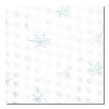 "Fabric Flair 14ct Silver/White Aida w/ Snowflakes - 17"" x 19"" Cut_MAIN"