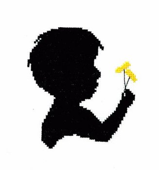 Handblessings - Silhouette Faces - Boy With Dandelion MAIN