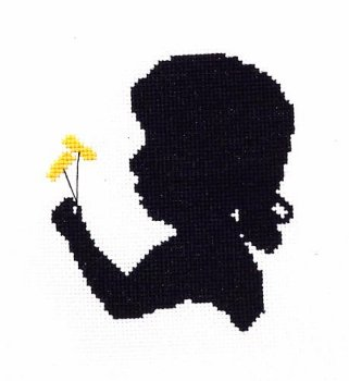 Handblessings - Silhouette Faces - Girl With Dandelion MAIN