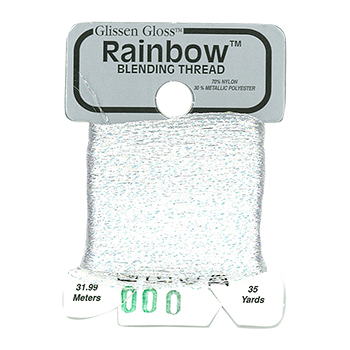 Glissen Gloss Rainbow Blending Thread 000 Bright White THUMBNAIL