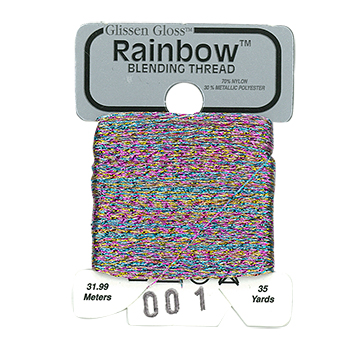 Glissen Gloss Rainbow Blending Thread 001 Multi-White THUMBNAIL