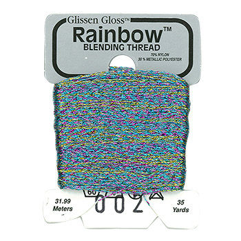 Glissen Gloss Rainbow Blending Thread 002 White Flame THUMBNAIL