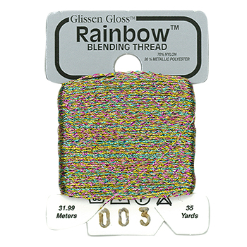 Glissen Gloss Rainbow Blending Thread 003 Iridescent White Flame THUMBNAIL