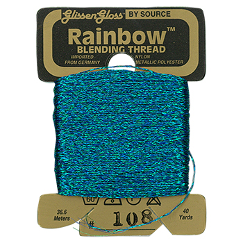 Glissen Gloss Rainbow Blending Thread 108 Blue Green THUMBNAIL
