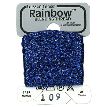 Glissen Gloss Rainbow Blending Thread 109 Midnight Blue THUMBNAIL