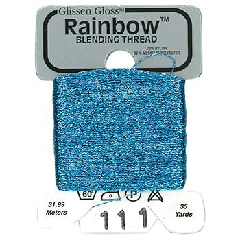 Glissen Gloss Rainbow Blending Thread 111 Pale Blue THUMBNAIL