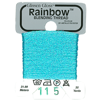 Glissen Gloss Rainbow Blending Thread 115 Iridescent Pale Blue THUMBNAIL