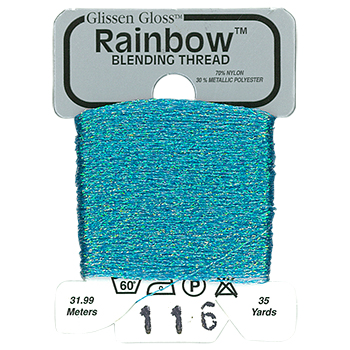 Glissen Gloss Rainbow Blending Thread 116 Iridescent Blue THUMBNAIL