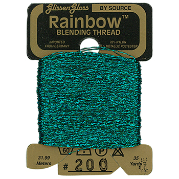 Glissen Gloss Rainbow Blending Thread 200 Dark Teal Green THUMBNAIL