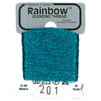Glissen Gloss Rainbow Blending Thread 201 Teal Green THUMBNAIL