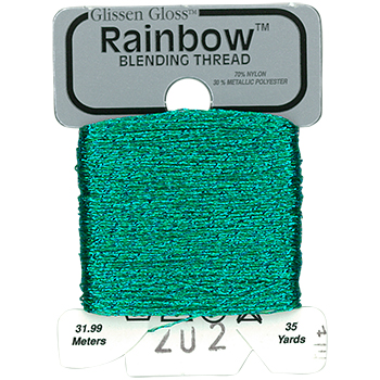 Glissen Gloss Rainbow Blending Thread 202 Light Teal Blue MAIN