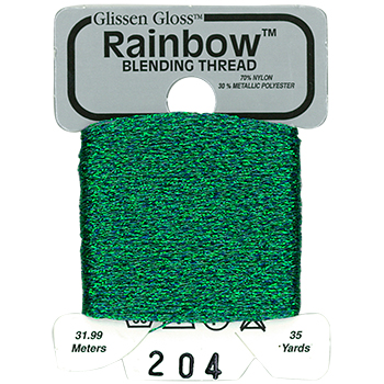 Glissen Gloss Rainbow Blending Thread 204 Sea Foam Green THUMBNAIL