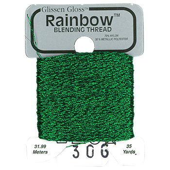 Glissen Gloss Rainbow Blending Thread 306 Emerald Green THUMBNAIL