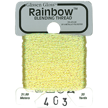 Glissen Gloss Rainbow Blending Thread 403 Iridescent Pastel Yellow THUMBNAIL