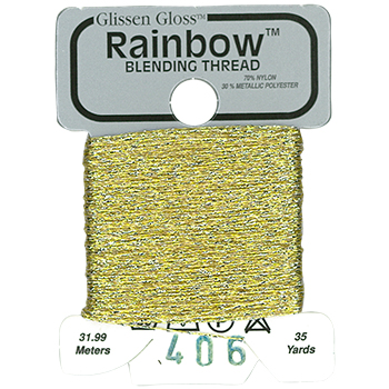 Glissen Gloss Rainbow Blending Thread 406 Gold THUMBNAIL