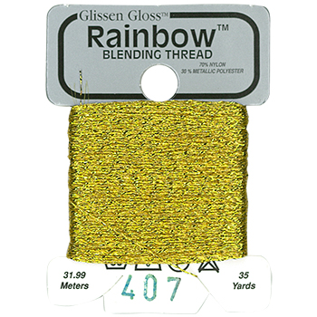 Glissen Gloss Rainbow Blending Thread 407 Brass MAIN