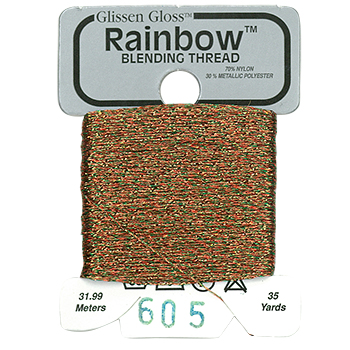 Glissen Gloss Rainbow Blending Thread 605 Brick THUMBNAIL
