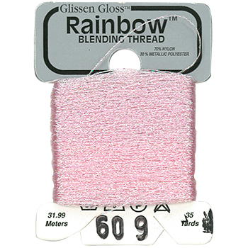Glissen Gloss Rainbow Blending Thread 609 Iridescent Pale Pink THUMBNAIL