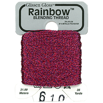 Glissen Gloss Rainbow Blending Thread 610 Blue Red MAIN