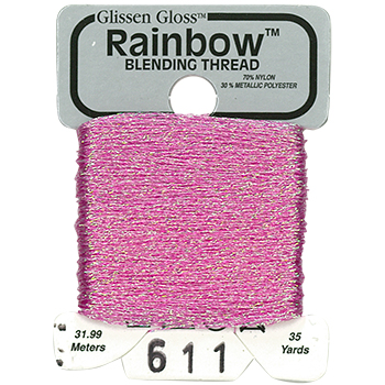 Glissen Gloss Rainbow Blending Thread 611 Iridescent Pink THUMBNAIL