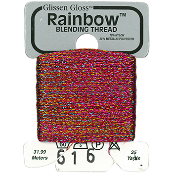 Glissen Gloss Rainbow Blending Thread 616 Multi Red THUMBNAIL