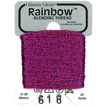 Glissen Gloss Rainbow Blending Thread 618 Purple Red THUMBNAIL