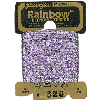 Glissen Gloss Rainbow Blending Thread 620 Gray Pink THUMBNAIL