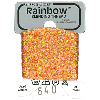 Glissen Gloss Rainbow Blending Thread 640 Iridescent Apricot THUMBNAIL