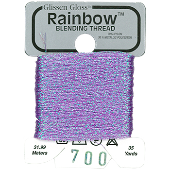 Glissen Gloss Rainbow Blending Thread 700 Iridescent Violet THUMBNAIL