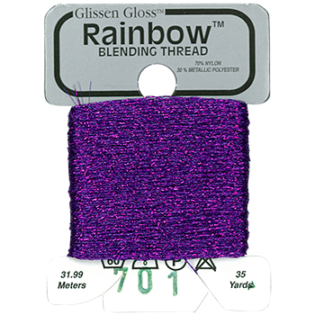 Glissen Gloss Rainbow Blending Thread 701 Violet THUMBNAIL