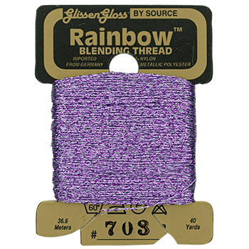 Glissen Gloss Rainbow Blending Thread 703 Lavender THUMBNAIL