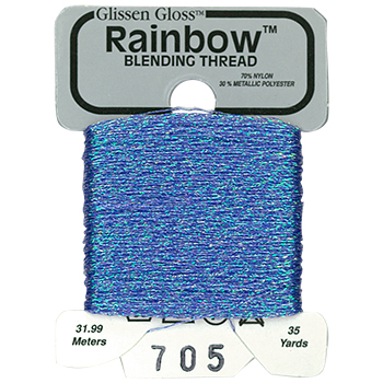 Glissen Gloss Rainbow Blending Thread 705 Cornflower Blue THUMBNAIL