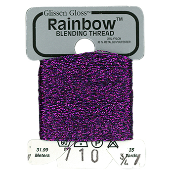 Glissen Gloss Rainbow Blending Thread 710 Double Violet MAIN